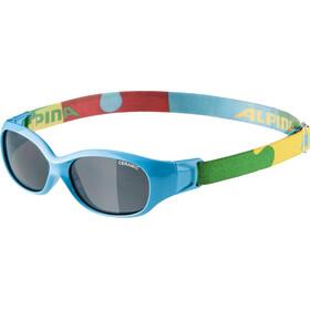 Alpina Sports Flexxy Cykelbriller Børn, cyan-puzzle